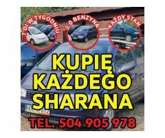 Skup VW Sharan, Każdy Kupię Sharana 2.0 Benzyna / Kupię Toyota E9,E10,E11,E12,E15,Kaczka